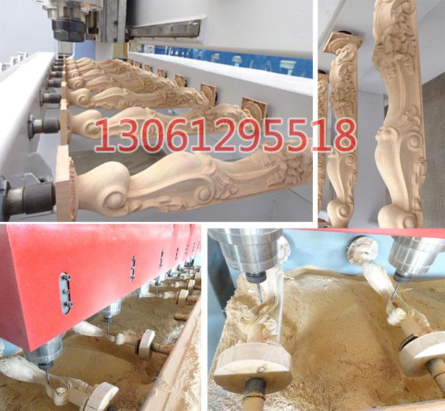 八头立体木工雕刻机